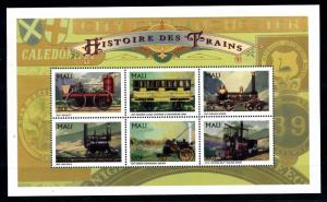 [61495] Mali 1996  Railway Train Eisenbahn Chermin De Fer Sheet MNH