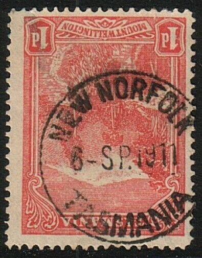 TASMANIA 1911 1d NEW NORFOLK  cds..........................................17422