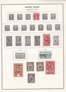 United States Documentary Stamps 1954 (without year dates) Album Page Ref 45588