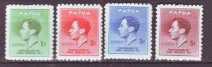 J22188 Jlstamps 1937 papua new guinea set mnh #118-21 king