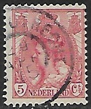 Netherlands # 65 - Queen Wilhelmina 5ct. - used....(P2)