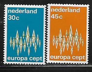 NETHERLANDS, 494-495, MNH, EUROPA 1972