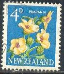 Flower, Hibiscus, New Zealand stamp SC#338 used