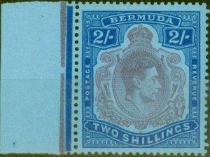 Bermuda 1950 2s Dull Purple & Blue-Pale Blue SG116e V.F MNH Corner Marginal