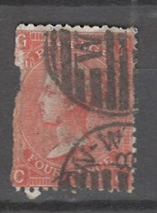 COLLECTION LOT # 3268 GB #43plate11 FAULTY 1865 CV=$72.50