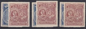 V69) Victoria 1897 Charity pair, SG 353/4, Fresh Light hinge