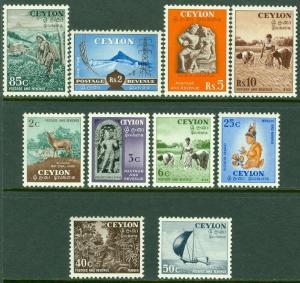 EDW1949SELL : CEYLON Scott #319-28 VF, Mint Original Gum LH Cplt set. Cat $85.50