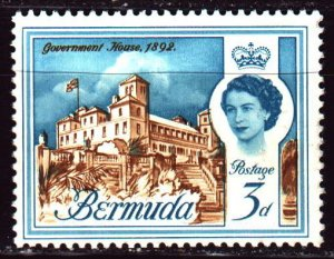 Bermuda. 1962. 164x from the series. Tourism, Government House. MNH.