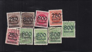 Germany: Sc #258-266, Short Set, Used (S18332)