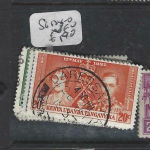 KENYA, UGANDA, TANGANYIKA   (PP0106B)  KGVI  CORONATION  SG 128-30   VFU