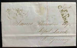 1846 Coleraine North Ireland England Letter Sheet Cover To Ballymoney