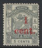 North Borneo  SG 64  no gum no cancel OPT  please see scans & details