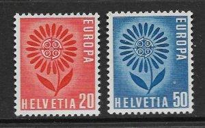 SWITZERLAND - EUROPA 1964 - SCOTT 438 TO 439 - MNH