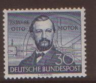 GERMANY 1952 Otto Gas Engine SG1076 hinged mint cat $56