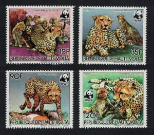 Upper Volta WWF Cheetah 4v SG#723-726 MI#957-960 SC#654-657