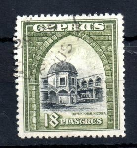 Cyprus KGV 1934 18pi SG#142 good used Cat Val £55 WS13365