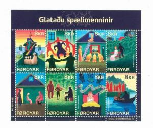 Faroe Islands.1 Souv. Sheet. 2009 Mnh. The Lost Musicians. 8 x 8 Kr