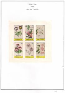 SCOTLAND - STAFFA - 1982 - Flowers #51 - Imperf 6v Sheet - MLH