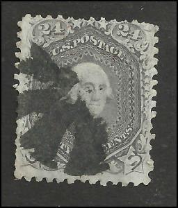 # 78b Gray Used George Washington