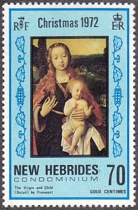 New Hebrides - British # 168 mnh ~ 70¢ Christmas - Virgin and Child
