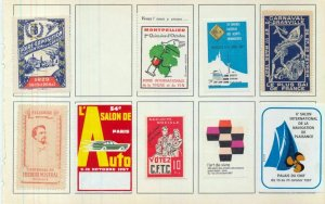 France Old/Modern MH Poster Labels x 50 (NT 3416