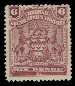 RHODESIA QV SG83, 6d reddish purple, M MINT. Cat £29.