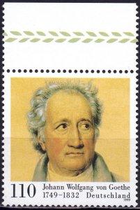 Germany. 1999. 2073. Goethe poet. MNH.