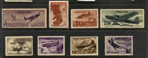 STAMP STATION PERTH Russia #992A-992H Different Planes MH - CV$14.75