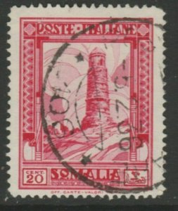 Somalia 1935-38 20c Perf. 14 Usato Italia Colonie Italy Colony A18P13F187