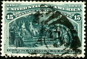 US Stamps # 238 Used Superb Strong color