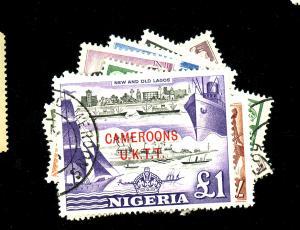 Cameroun #66-77 Used F-VF Cat $45