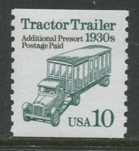 USA- Scott 2457 - Transportation - 1990 - MNH - Single 10c Stamp