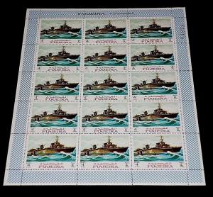 1968, FUJEIRA, SAILING SHIPS, WAR SHIPS, SHEET OF 15, LOT #2, MNH, NICE! LQQK!