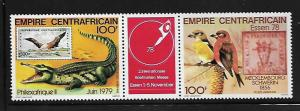 CENTRAL AFRICAN, C201A, MNH, CD, PAIR OF TWO WITH TAB, PHILEXAFRIQUE II - ESSEN