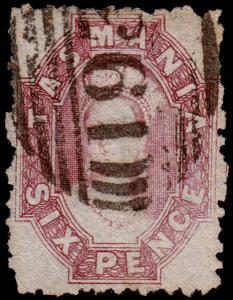 Tasmania Scott 32, Perf. 12 (1864) Used F-VF, CV $47.50 M