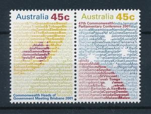 [73850] Australia 2001 Commonwealth Conference Pair  MNH