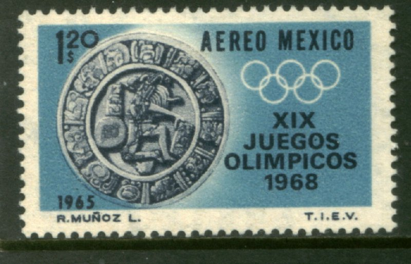MEXICO C310, $1.20 1st Pre-Olympic Issue - 1965 MINT, NH. VF.