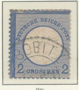Germany Stamp Scott #18, Used - Free U.S. Shipping, Free Worldwide Shipping O...