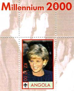 Angola Princess Diana Millennium 2000 s/s Perforated mnh.vf
