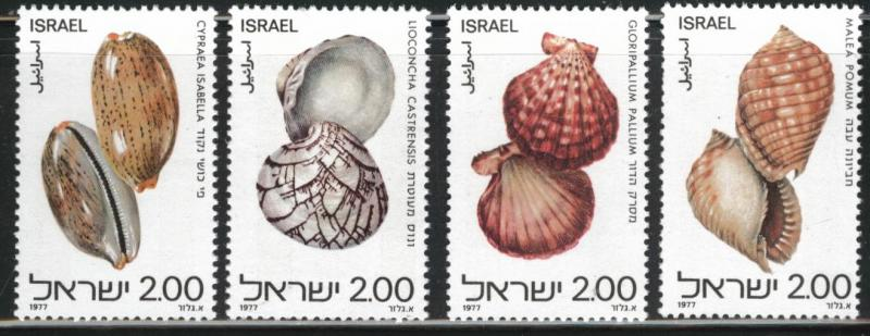 ISRAEL Scott 678--681 MNH** 1977 Shell set without tabs