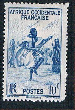 French West Africa 36 MLH Rifle Dance (BP10210)