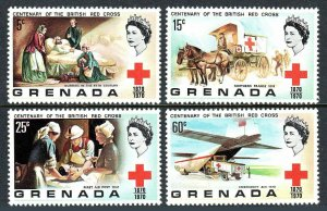 Grenada 395-398, MNH. British Red Cross Societies, Centenary, 1970