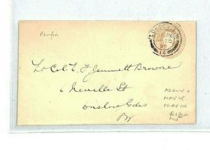 GB London 1897 Postal Stationery Cover  {samwells}CT152