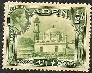 Aden  16 Mint OG 1942 1/2a Aidrus Mosque