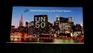 U.N. NEW YORK #670, 1995, 50th ANNIVERSARY  MNH, PRESTIGE BOOKLET, LQQK!