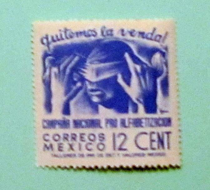 Mexico - 808, MNH. Peace; Blindfold. SCV - $0.40