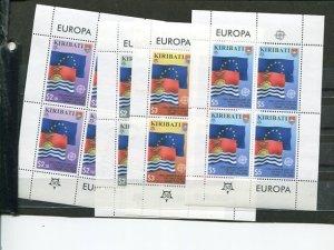 Kiribati set of 2006  Europa sheets    Mint VF NH