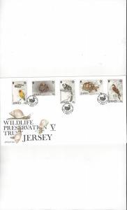 Jersey  456-60 Wildlife V  FDC Jersey Post Office