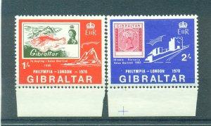 Gibraltar sc# 238-239 mh cat value $.65