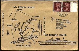 GB SCOTLAND 1970 FAIR ISLE cds on Regina Maris ship cover.............98325